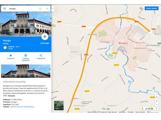 Mungia en Google Maps