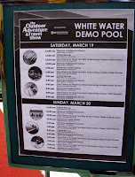 White water demo pool banner at Vancouver Outdoor Adventure and Travel Show