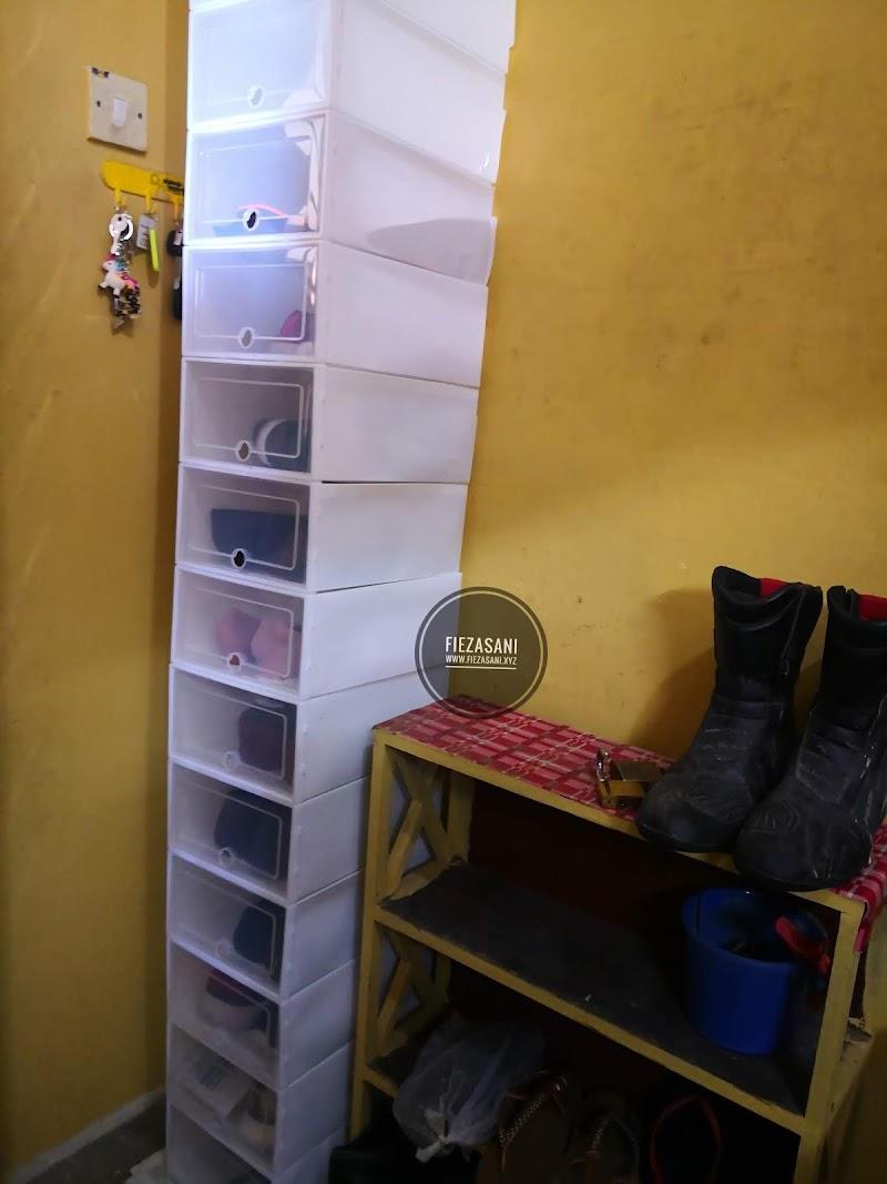 Senang Nak Pasang DIY Rak Kasut atau Shoe Storage Box Ni