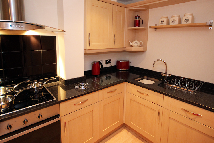 Fully equipped kitchen at High Quays PU