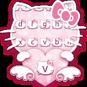 😍Pink Kawaii Kitty Keyboard Theme