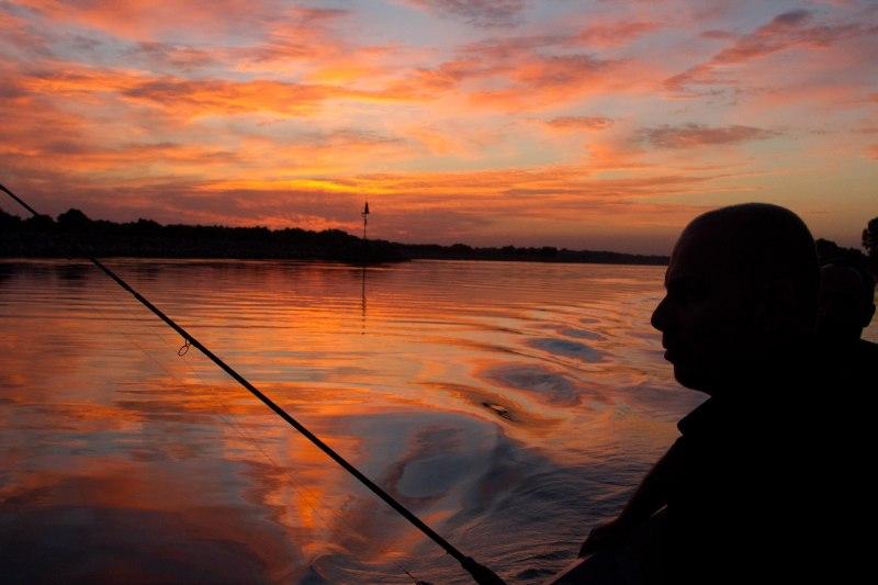 Silviu pescuit răsărit Delta Dunării Sulina Gorgova caiac