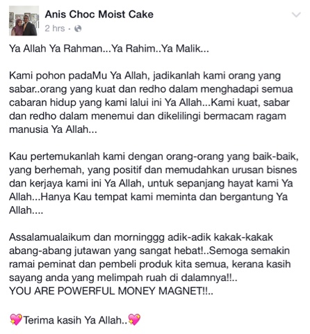 Doa Pagi Jutawan #2