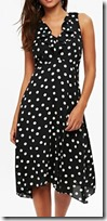 Wallis Polka Dot Petite Ruffle Detail Dress