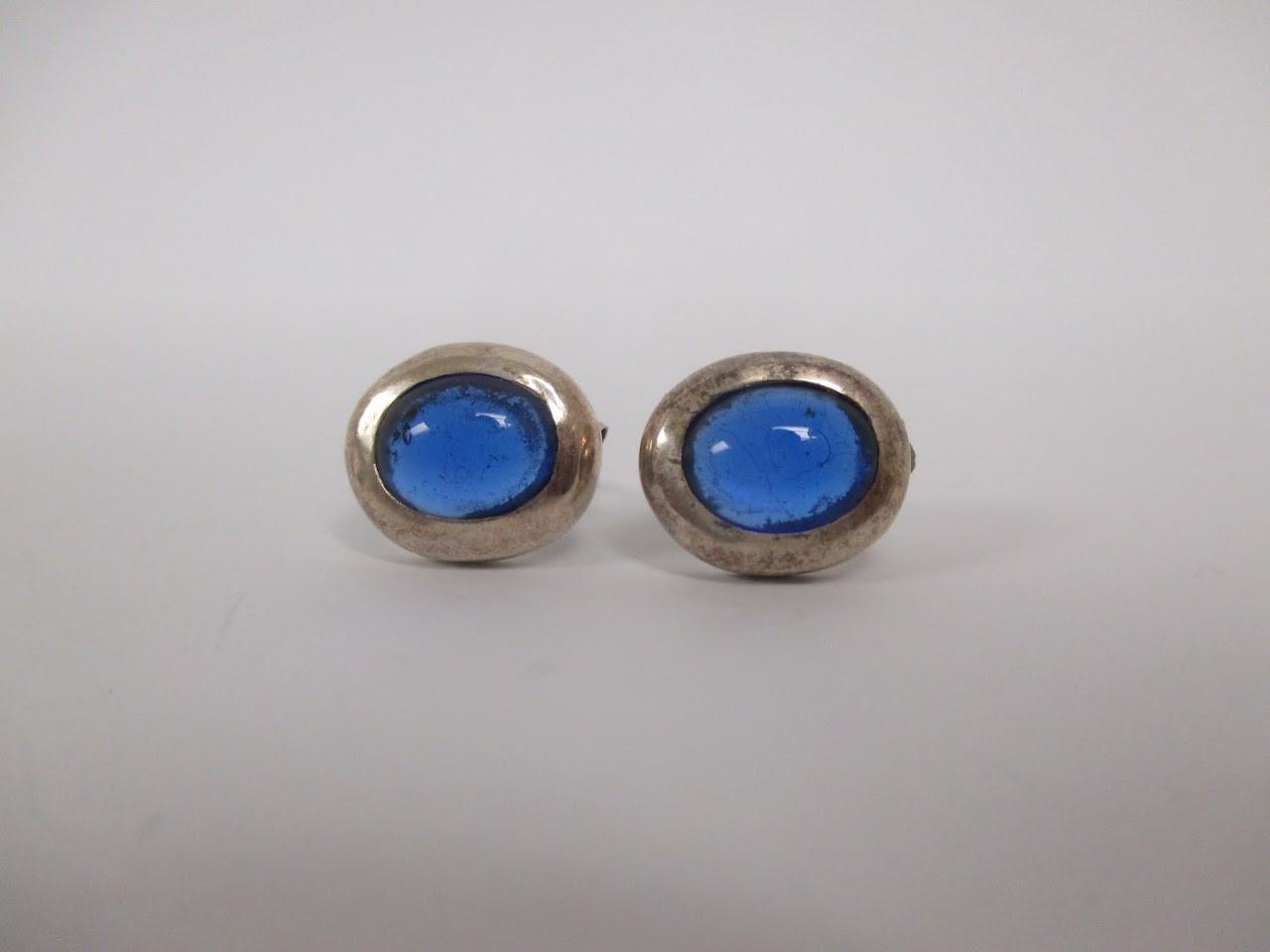 Sterling Silver Stone Earrings
