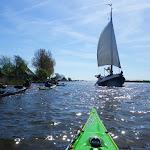 054-We draaien de Korte Vliet in, op weg naar het Zandmeer. De dwaalgasten zijn er terug bij...