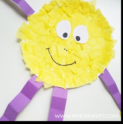 Paper Plate Tissue Paper Sun Craft