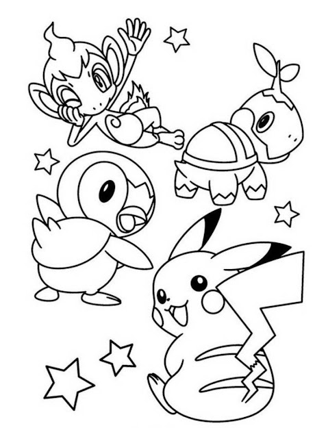 Cute Pokemon Pikachu Coloring Pages
