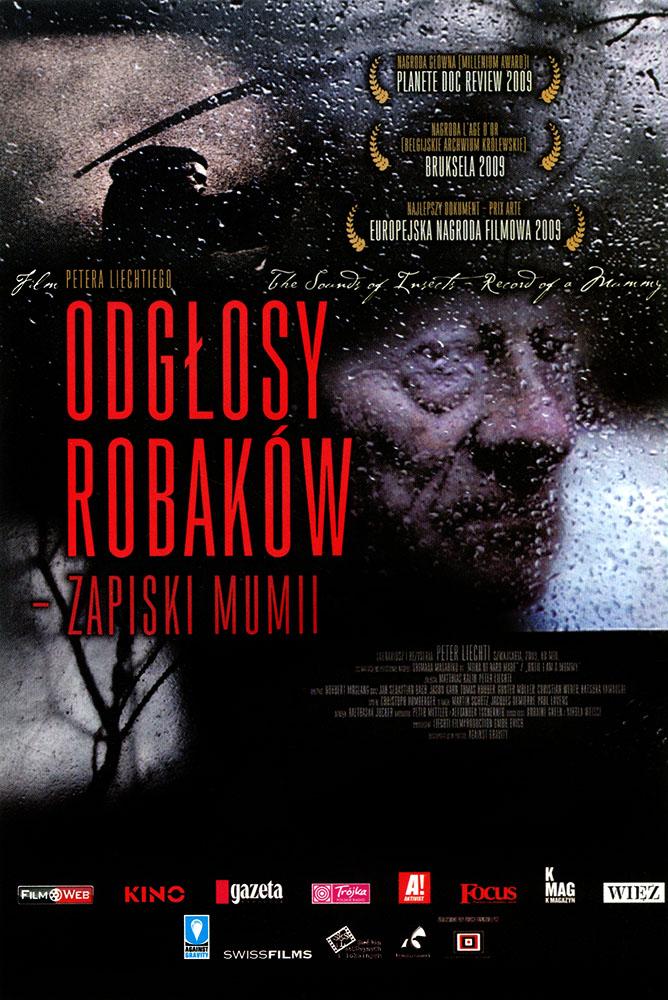 Ulotka filmu 'Odgłosy Robaków - Zapiski Mumii (przód)'