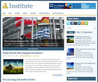 Institute blogger template