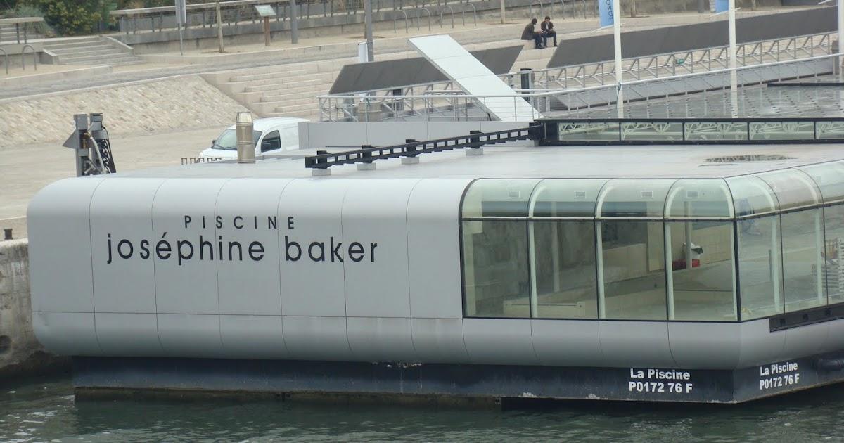 Jos phine baker une piscine flottante paris au bord de for Construction piscine josephine baker