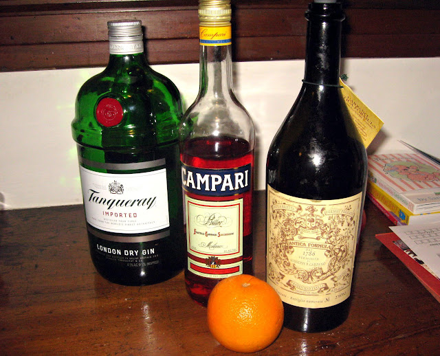 Gin, Campari, and Carpano Antica Red Vermouth