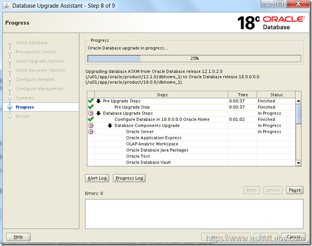Oracle Database 18c Upgrade