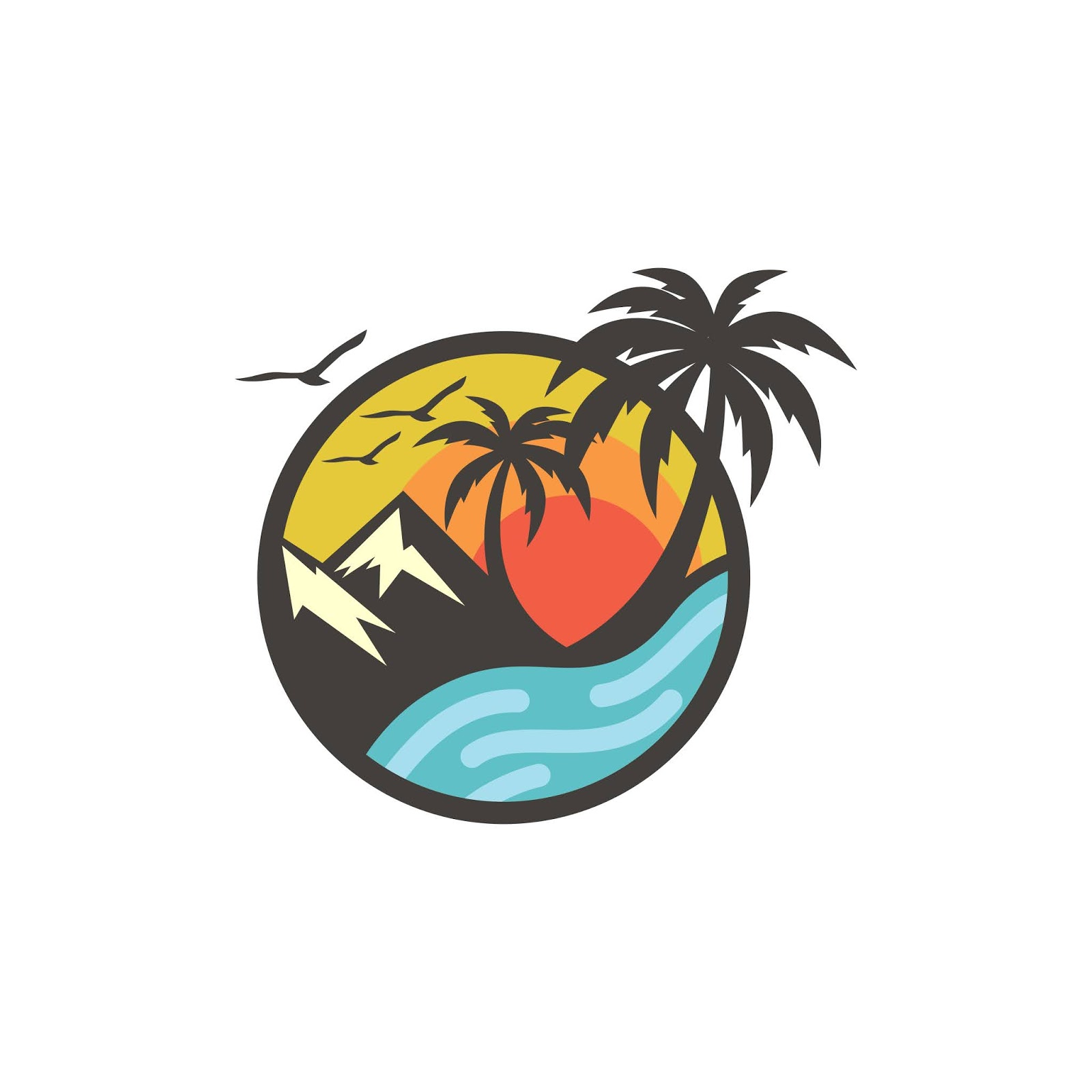 Beach Logo Design Vector Template.jpg Free Download Vector CDR, AI, EPS and PNG Formats