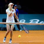 STUTTGART, GERMANY - APRIL 20 : Ekaterina Makarova in action at the 2016 Porsche Tennis Grand Prix
