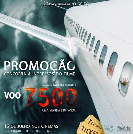 Promoção valendo ingressos do filme Voo 7500