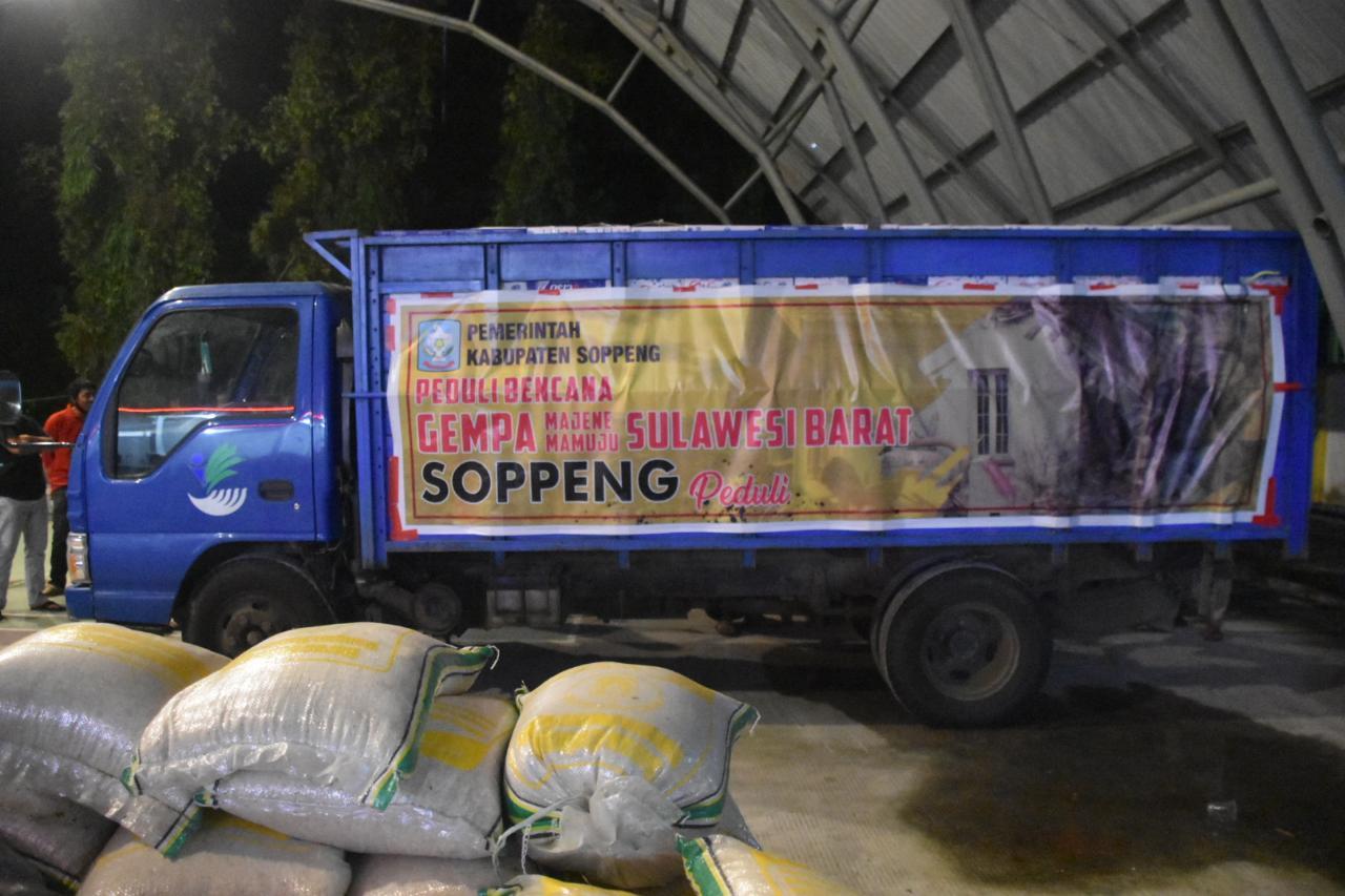 Pemkab Soppeng Dirikan Posko Peduli Bencana Gempa di Samping Taman Kalong