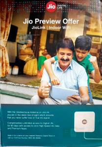 Reliance Jio unveils JioLink Indoor WiFi Preview Offer