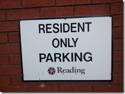 Residents' parking sign s