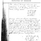 Minutes of Mt. Liberty Church, Jan 1866 Shows Ezekial Smith Gleaves as a founding Elder
