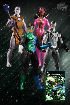 Blackest Night Action Figure Box Set by DC Direct - Indigo Munnk, Green Lantern/Blue Lantern Hal Jordan, Black Lantern Blue Beetle & Star Sapphire Fatality Action Figures