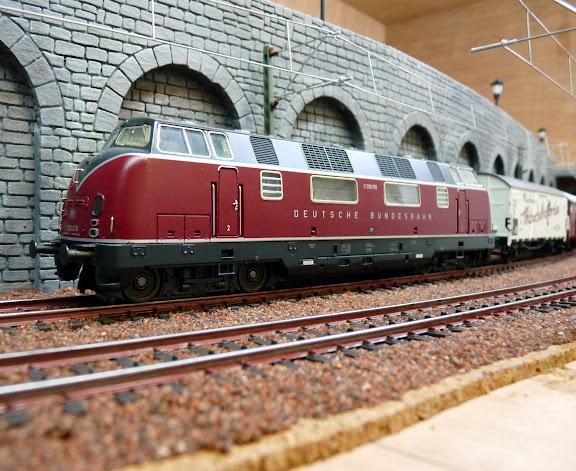 V200 op module tijdens Rail
