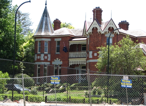 Rotha, 29 Harcourt Street, Hawthorn East; Rotha is unique in anticipating the Australian Queen Anne style of architecture not popularised until the end of the 19th century. Rotha was designed by the notable nineteenth century architect John Beswicke as his own residence. The house was built in 1887.