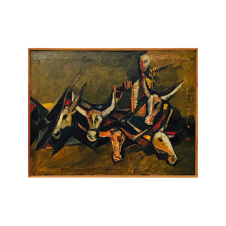 K. S. Verma Signed Modernist Indian Painting