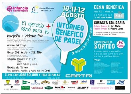 Pádel y solidaridad se unen en San Pedro Alcántara: III Torneo Benéfico de Pádel a favor de Infancia sin Fronteras.