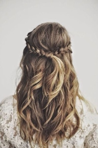 #hair #updo #inspiration #cabelo #inspiração #penteado #princesa #princess #feminina #romântica #romantic #femin