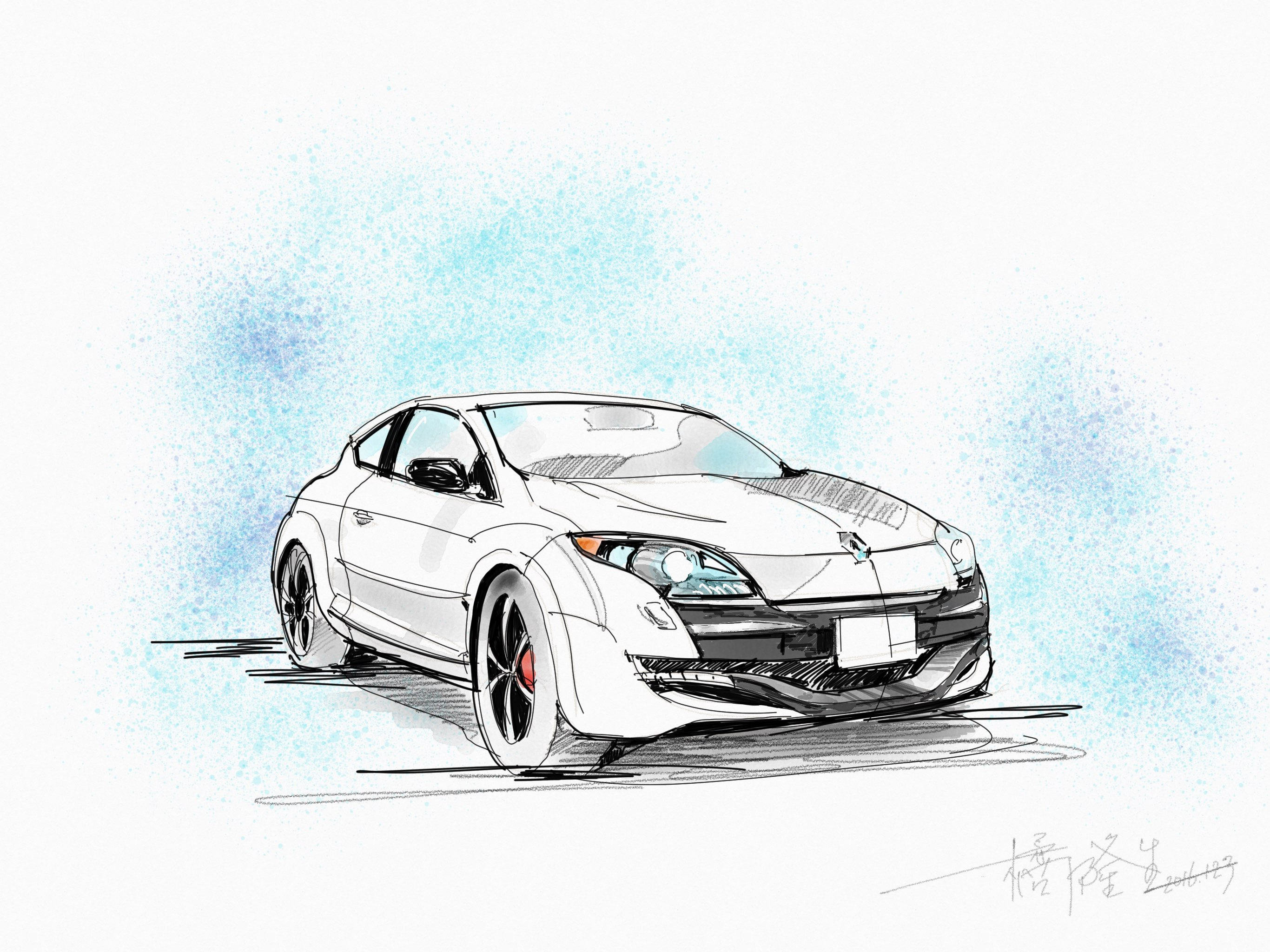 My Car made with Sketches