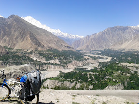 View of Hunza valley while descending from Duiker.