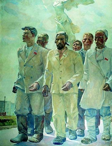 Proletarios de Stalin Alexander Deyneka.