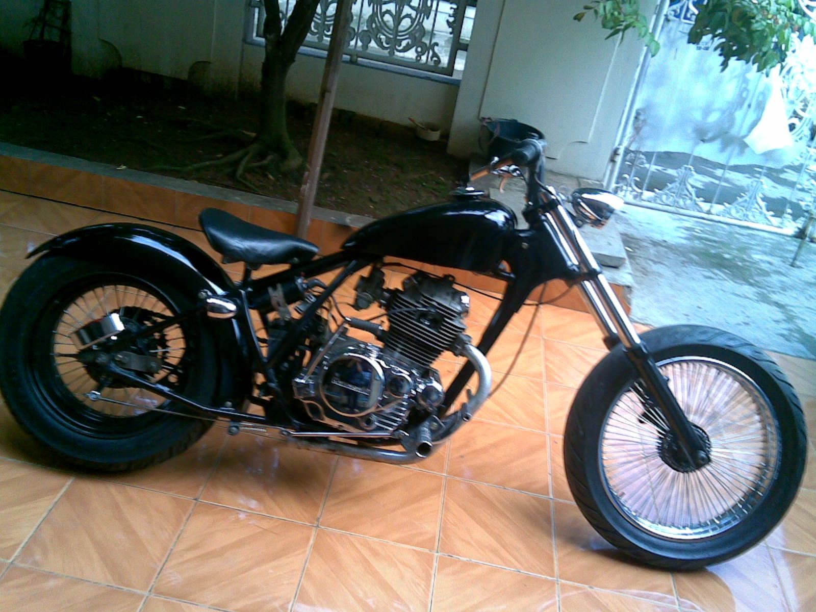 108 Modifikasi Motor Cb Chopper Modifikasi Motor Honda CB Terbaru