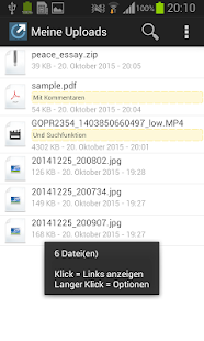File-upload.net Uploader – Miniaturansicht des Screenshots