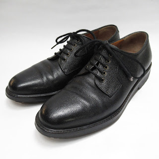 Salvatore Ferragamo Pebbeled Leather Oxfords