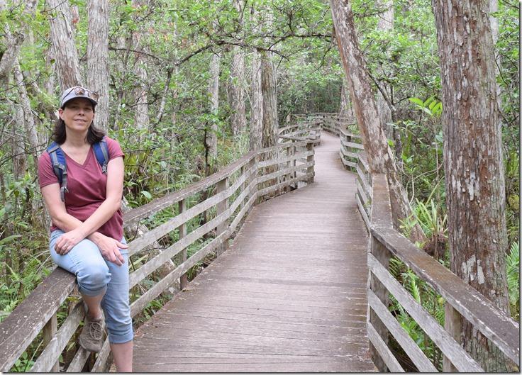 Tina on the boardwalk