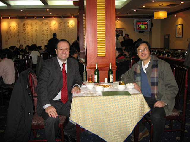 Augusto Soto with Prof. Jiang Shixue, Deputy Director of the Institute of European Studies (former Deputy Director of the Institute of Latin American Studies) at the Chinese Academy of Social Sciences (CASS), Beijing, January 2007
