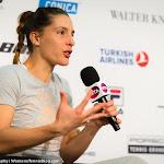 STUTTGART, GERMANY - APRIL 21 : Andrea Petkovic talks to the media at the 2016 Porsche Tennis Grand Prix