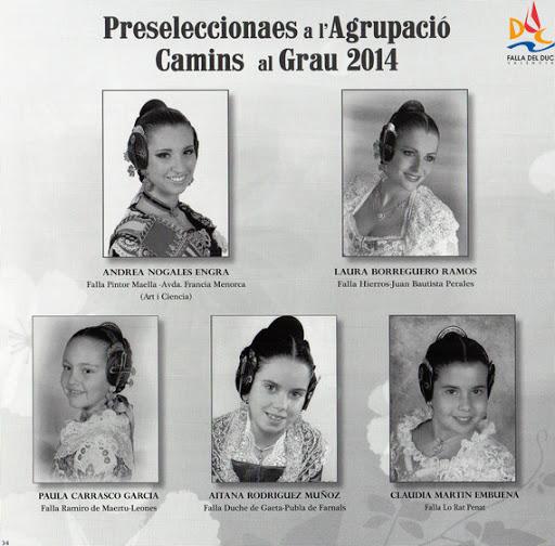 Representantes del Duc en la presentación del Libro-Memoria de la Agrupación