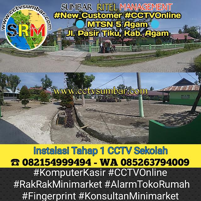 Pemasangan CCTV Sekolah Pada MTSN 5 Tiku Kabupaten Agam