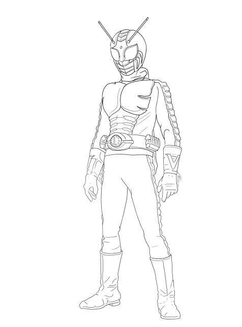 Gambar Mewarnai Kamen Rider : gambar, mewarnai, kamen, rider, Gambar, Mewarnai, Menarik:, Kamen, Rider