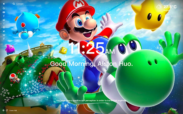 Inspired Super Mario Odyssey Wallpaper New Tab Theme