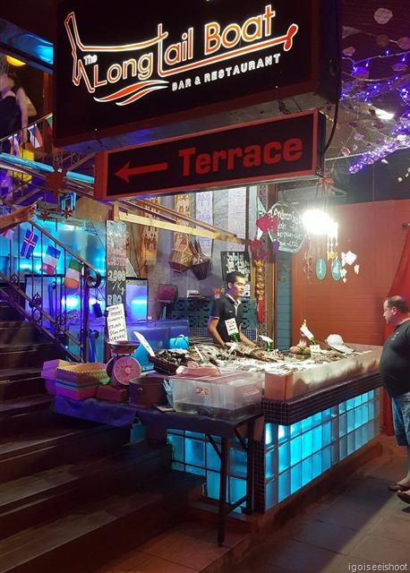 One of the restaurants along the Ao Nang Seafood Street.