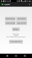 Screenshot of AudioBT: BT audio GPS/SMS/Text