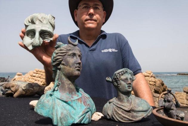 Tesouro de época romana descoberto num porto de Israel