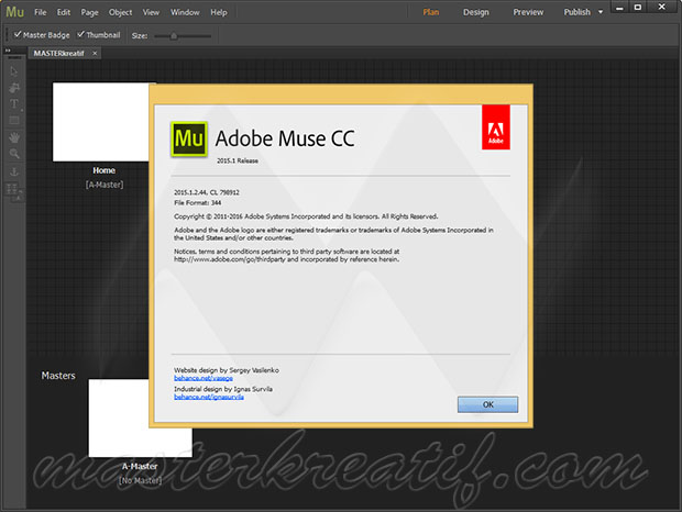 Adobe Muse CC 2015.1.2