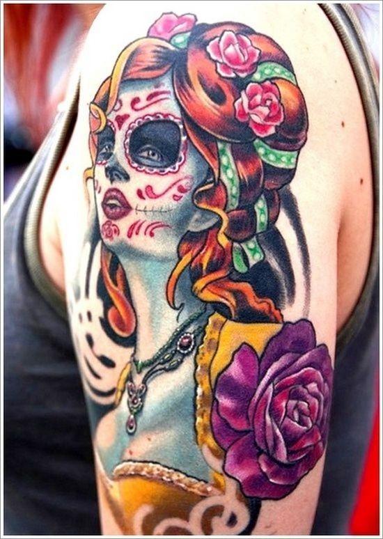 luva_de_açcar_crnio_tatuagem_para_as_meninas