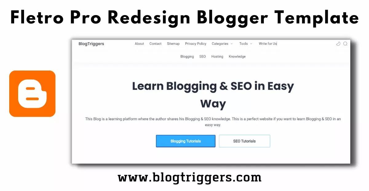 Fletro Pro Redesign Blogger Template
