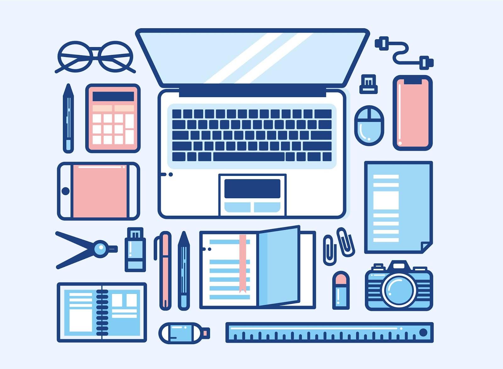 Workspace Desktop Design Free Download Vector CDR, AI, EPS and PNG Formats